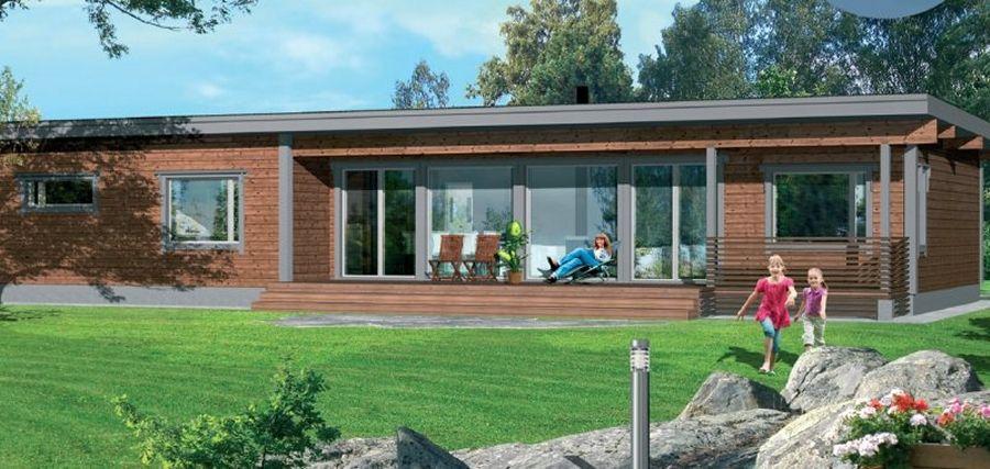 plan de maison bois plain pied