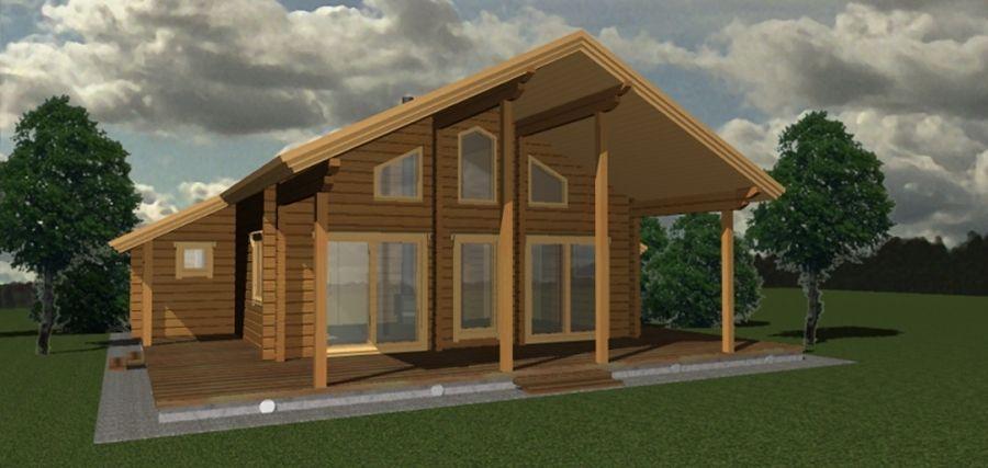 Plans de maisons bois massif esprit nature bois - Plan maison en bois gratuit ...